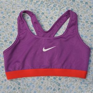 Nike Dri-Fit Sports Bra Bold Berry Red Orange Med